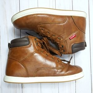 Levi's high top faux leather brown 1.5